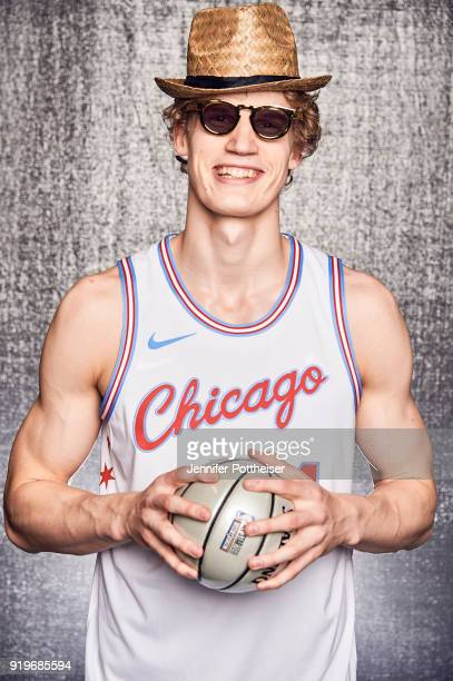 Lauri Markkanen of the Chicago Bulls poses for a portrait during AllStar Saturday Night as part of 2018 NBA AllStar Weekend on February 17 2018 at...