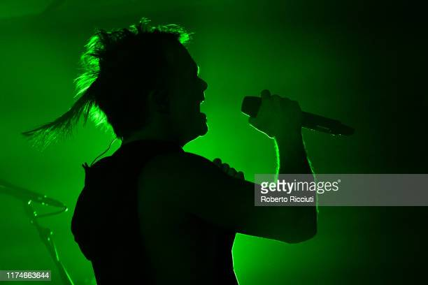 Lauri Ylonen of The Rasmus performs on stage at SWG3 on October 8, 2019 in Glasgow, Scotland.