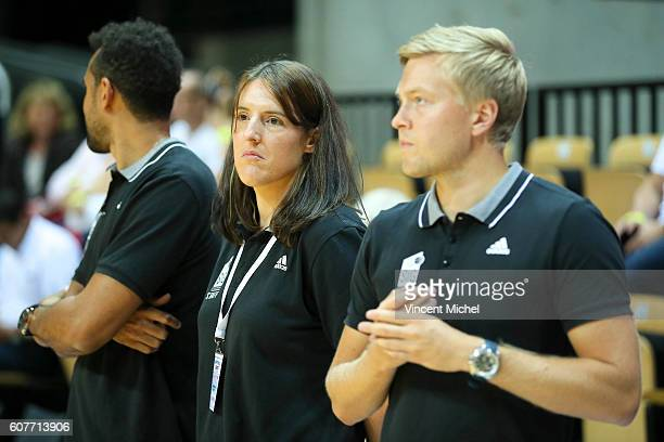Lauriane Dolt coach assistant of Strasbourg during the Final match between Strasbourg and Gravelines Dunkerque at Tournament ProStars at Salle Arena...