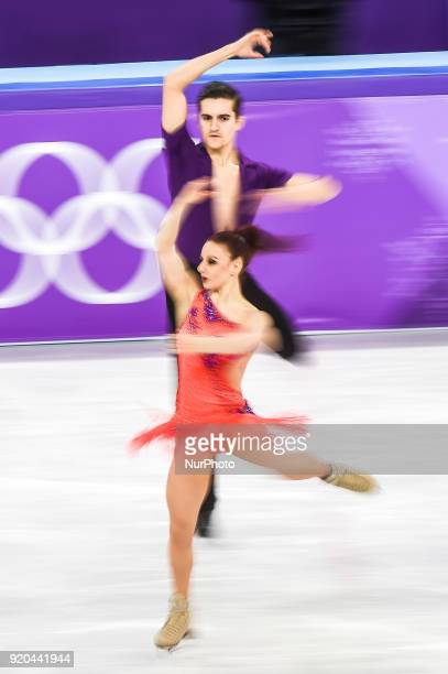 Lauriault MarieJade and Le Gac Romain of France competing in free dance at Gangneung Ice Arena Gangneung South Korea on Feburary 19 2018