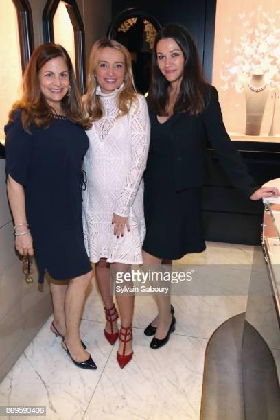 Laurie Adorno Anastasiya Gorak and Tatyana Waldman attend Quest Nirav Modi Champagne Reception on November 2 2017 in New York City