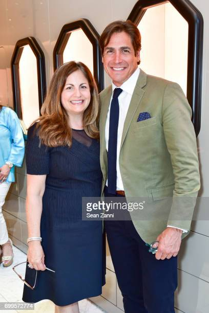 Laurie Adorno and Jaime Jimenez attend QUEST Magazine Baubles Bubbly at Nirav Modi Boutique on June 21 2017 in New York City