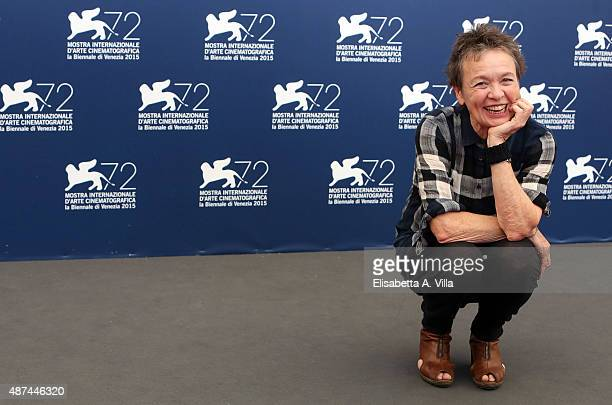 Laurie Anderson attends a photocall for 'Heart Of A Dog' during the 72nd Venice Film Festival at Palazzo del Casino on September 9 2015 in Venice...
