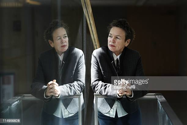 Laurie Anderson attends 'Delusion' press conference in Madrid on May 31 2011 in Madrid Spain
