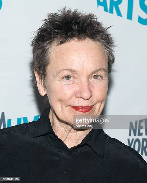 Laurie Anderson attends the New York Live Arts 2015 Gala at SIR Stage37 on March 10 2015 in New York City