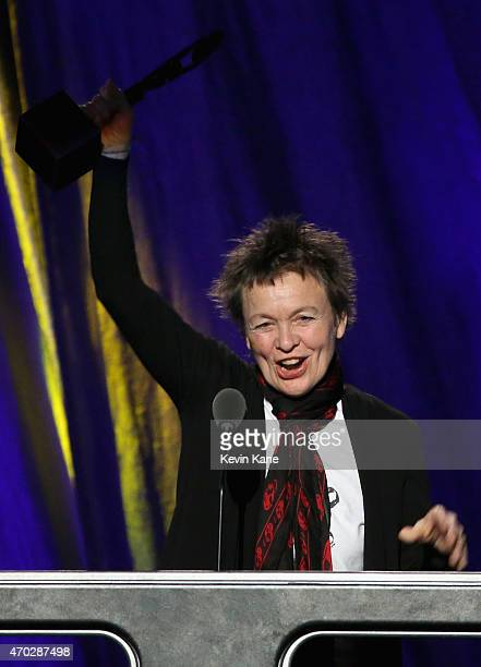 Laurie Anderson inducts Lou Reed onstage during the 30th Annual Rock And Roll Hall Of Fame Induction Ceremony at Public Hall on April 18 2015 in...