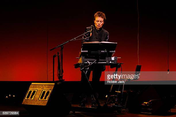 """Laurie Anderson performs in the production of """"Homeland"""" at the Barbican in London."""