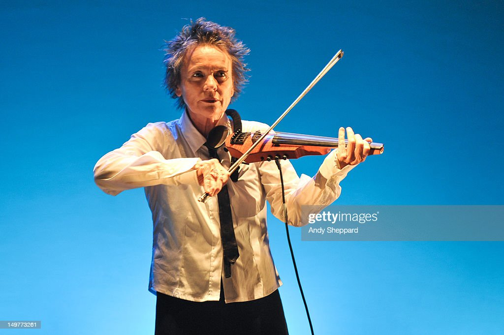 Laurie Anderson performs on stage for Antony's Meltdown at the Royal Festival Hall on August 3, 2012 in London, United Kingdom.