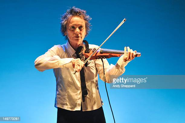Laurie Anderson performs on stage for Antony's Meltdown at the Royal Festival Hall on August 3 2012 in London United Kingdom