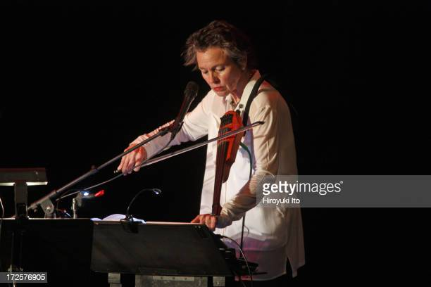 'Laurie Anderson The Language of the Future' at Stuyvesant High School as part of River to River Festival on Tuesday night June 18 2013This...