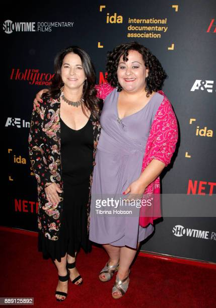 Laurie Ann Schag and Marjan Safinia at the 33rd Annual IDA Documentary Awards at Paramount Theatre on December 9 2017 in Los Angeles California