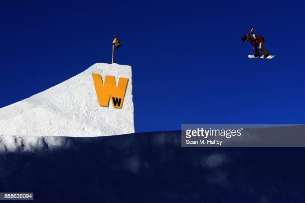 Laurie Blouin of Canada competes in qualifying of the FIS Snowboard World Cup 2018 Ladies' Big Air during the Toyota US Grand Prix on December 8 2017...