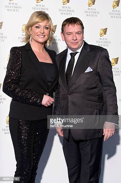 Laurie Brett and Adam Woodyatt attends the RTS Programme Awards at The Grosvenor House Hotel on March 17 2015 in London England
