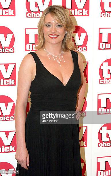 Laurie Brett during TV Quick Awards TV Choice Awards Inside Arrivals at The Dorchester in London Great Britain