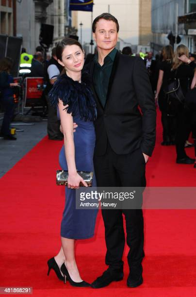 Laurie Calvert attends the World Premiere of 'The Quiet Ones' at Odeon West End on April 1 2014 in London England