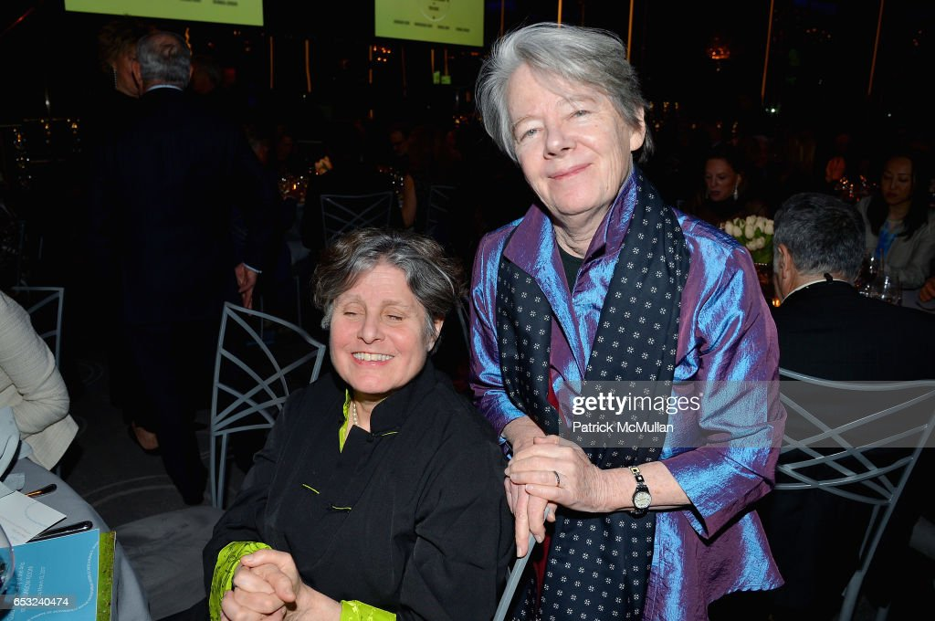 Laurie Care and Alice Quinn attends the Guild Hall Academy of the Arts Achievement Awards & Benefit Dinner at The Rainbow Room on March 13, 2017 in New York City.