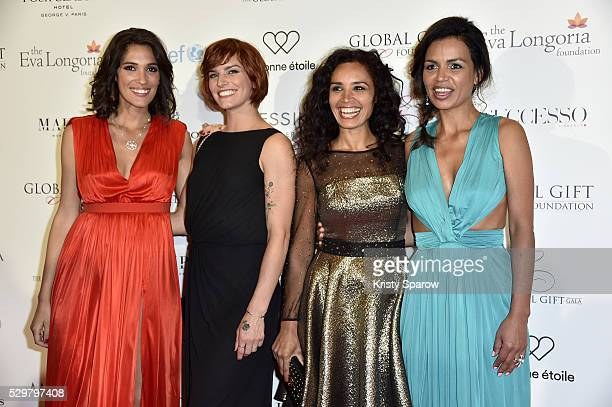 Laurie Cholewa Fauve Hautot Aida Touihri and Laurence Roustandjee attend the Global Gift Gala Photocall at the Hotel Georges V on May 09 2016 in...