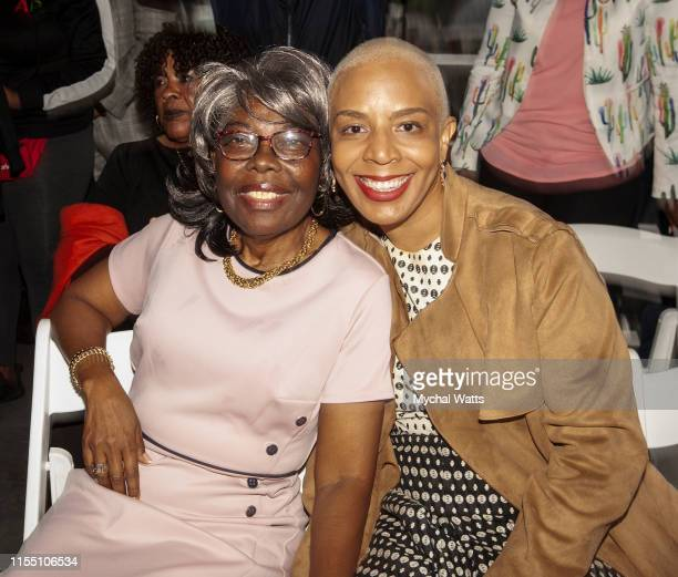 Laurie Cumbo and Voletta Wallace attend the Notorious B.I.G. Street Naming in Brooklyn New York on June 10, 2019 in Brooklyn, New York. On June 10,...