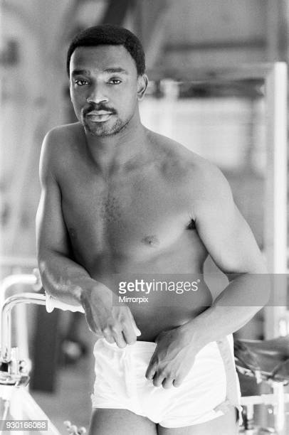 Laurie Cunningham bare chested in the gym Madrid Spain 24th October 1982