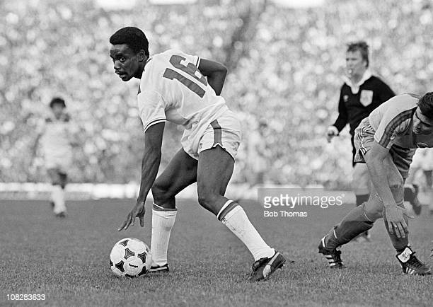 Laurie Cunningham in action for England during the World Cup Qualifying match against Romania in Bucharest 15th October 1980 Romania won 21