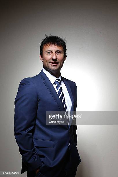 Laurie Daley poses after a team photograph for the New South Wales Blues State of Origin team at Novotel Coffs Harbour on May 20 2015 in Coffs...