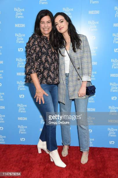 Laurie David and Cazzie David attend The Biggest Little Farm Los Angeles Premiere at Landmark Theatre on May 07 2019 in Los Angeles California