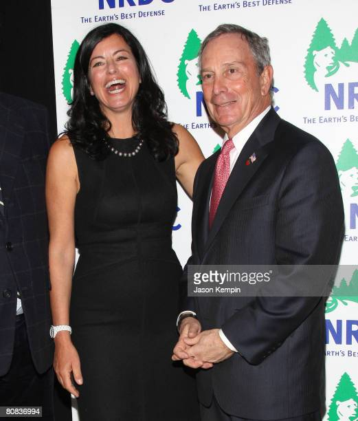 """Laurie David and New York City Mayor Michael Bloomberg attend the 10th Annual NRDC """"Forces For Nature"""" Gala at Cipriani 42nd Street on April 1, 2008..."""