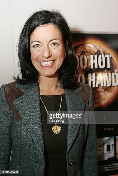 """Laurie David, Executive Producer, at the premiere screening of the HBO documentary """"Too Hot Not Too Handle"""" in Washington, D.C. The documentary..."""