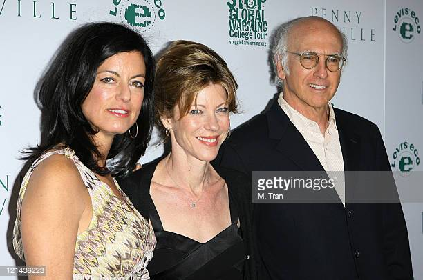 Laurie David, Roberta Myers, Editor-in-Chief of ELLE Magazine and Larry David