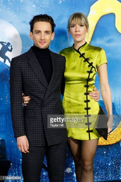 Laurie Davidson and Catherine Kolubayer attend the world premiere of Cats at Alice Tully Hall Lincoln Center on December 16 2019 in New York City