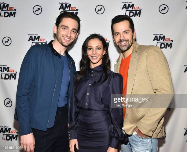 Laurie Davidson Francesca Hayward and Robbie Fairchild visit BuzzFeed's AM To DM on December 17 2019 in New York City