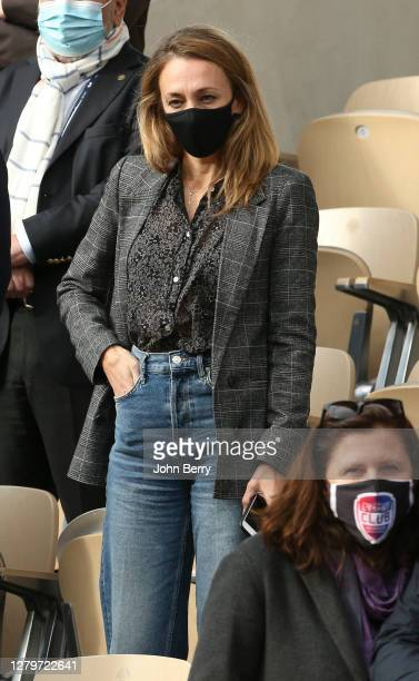 Laurie Delhostal attends the Women's Final on day 14 of the 2020 French Open on Court Philippe Chatrier at Roland Garros stadium on October 10 2020...