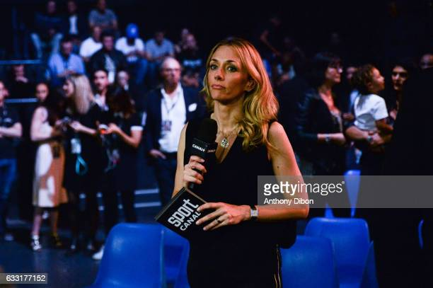 Laurie Delhostal Canal program presenter during the World Championship WBA at Dome de Paris Palais des Sports on May 20 2016 in Paris France