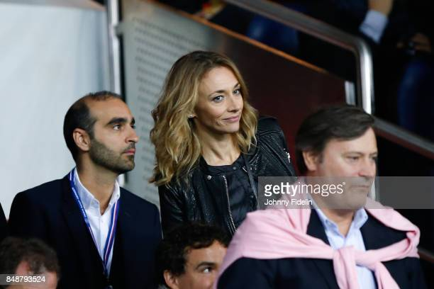 Laurie Delhostal french journalist during the Ligue 1 match between Paris Saint Germain and Olympique Lyonnais at Parc des Princes on September 17...