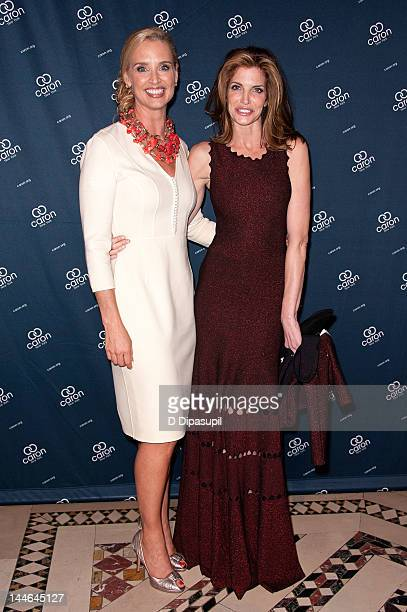 Laurie Dhue and Stephanie Seymour attend the 2012 Caron New York Gala at Cipriani 42nd Street on May 16 2012 in New York City