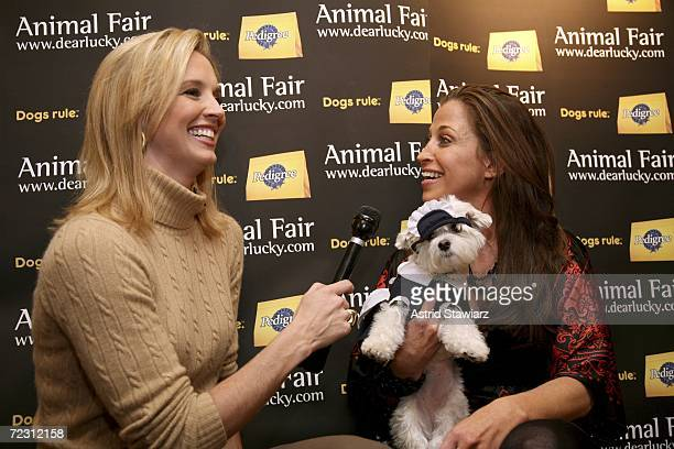 Laurie Dhue interviews Wendy Diamond at the Animal Fair Magazine's Annual Canine Pet Halloween Party October 30 2006 in New York City