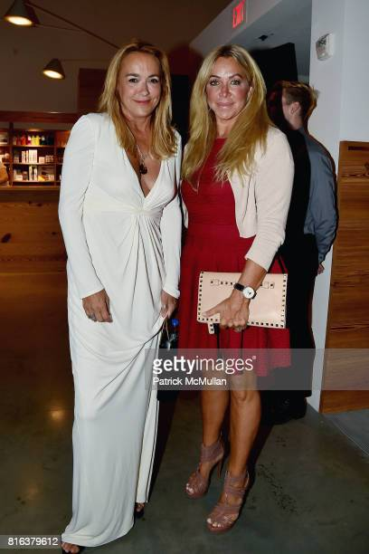 Laurie Durden and Anna Rothschild attend the Midsummer Party 2017 at Parrish Art Museum on July 15 2017 in Water Mill New York