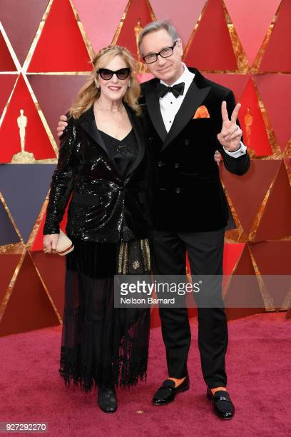 Laurie Feig and Paul Feig attend the 90th Annual Academy Awards at Hollywood Highland Center on March 4 2018 in Hollywood California