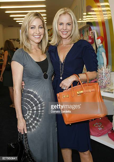 Laurie Feltheimer and Cheryl Woodcock attend the Children's Action Network party at Fashionology on September 16 2009 in Los Angeles California