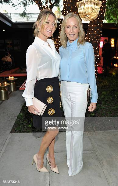 Laurie Feltheimer and Julie Jaffee attend the launch of EB Florals By Eric Buterbaugh with Saks Fifth Avenue on May 25 2016 in Los Angeles California
