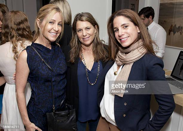 Laurie Feltheimer Jenny Belushi and Suze Yalof Schwartz attend Haney PretaCouture Ambassador Event on October 22 2013 in Pacific Palisades California