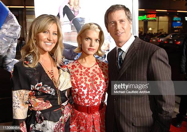 Laurie Feltheimer, Jessica Simpson and Jon Feltheimer, Lionsgate CEO
