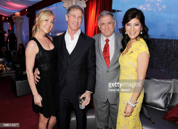 Laurie Feltheimer, Jon Feltheimer, President and Chief Executive Officer of CBS Corporation Les Moonves and Julie Chen attend Lionsgate's The Hunger...
