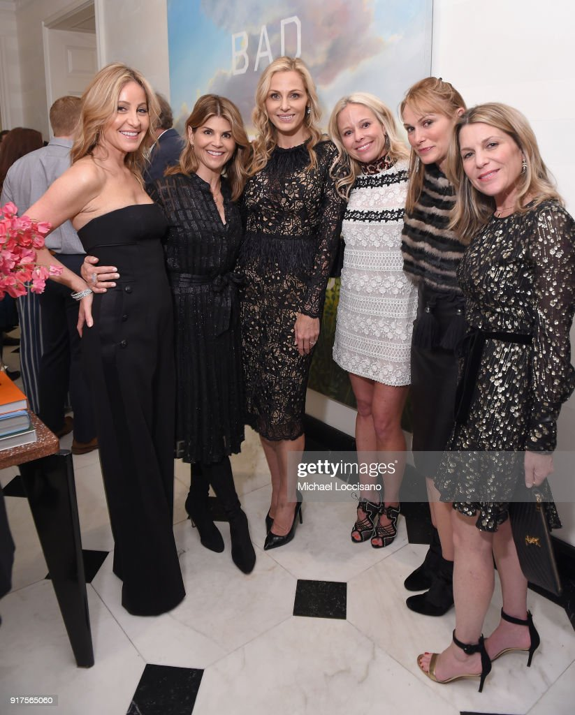 Laurie Feltheimer, Lori Loughlin, Host Jamie Tisch, Shannon Rotenberg, Sarah Moritz, and Jenny Belushi attend the Country Music Hall Of Fame And Museum Reception With Carly Pearce For All For The Hall New York on February 12, 2018 in New York City.