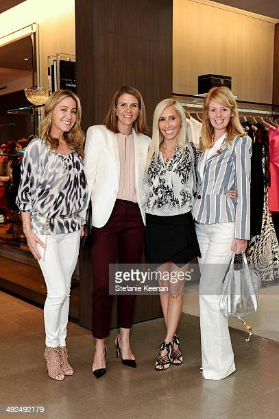 Laurie Felthimer Colleen Bell Alexandra Von Furstenberg and Wendy Landes attend Monique Lhuillier Pre Fall Lunch on May 20 2014 in Los Angeles...