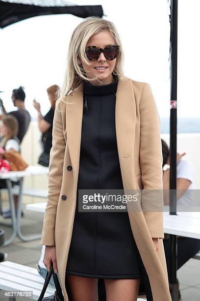 Laurie Ferraro attends MercedesBenz Fashion Week Australia 2014 at Bondi Icebergs Dining Room on April 7 2014 in Sydney Australia