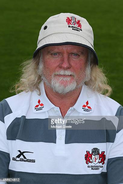 Laurie Fisher Head Coach of Gloucester poses for a portrait at the photocall held at Hartpury College on September 18 2015 in Gloucester England