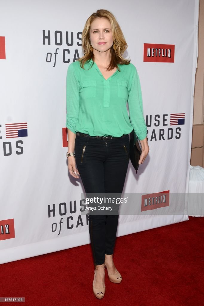 Laurie Fortier arrives at the Netflix's 'House Of Cards' for your consideration Q&A event at Leonard H. Goldenson Theatre on April 25, 2013 in North Hollywood, California.