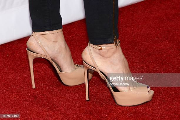 Laurie Fortier arrives at the Netflix's House Of Cards for your consideration QA event at Leonard H Goldenson Theatre on April 25 2013 in North...