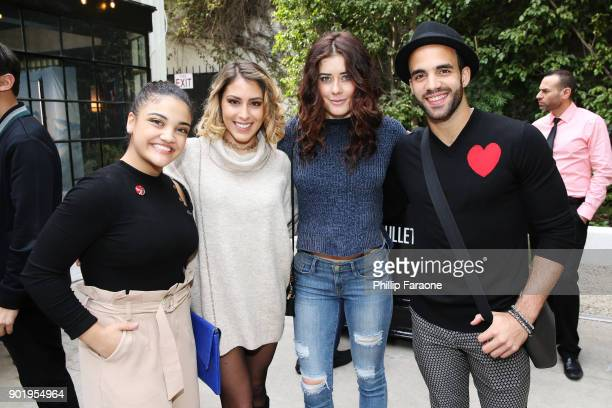 Laurie Hernandez, Giulianna Pino, Manon Matthews, and Danell Levya attend GOLD MEETS GOLDEN: The 5th Anniversary Refreshed by Coca-Cola, Globes...